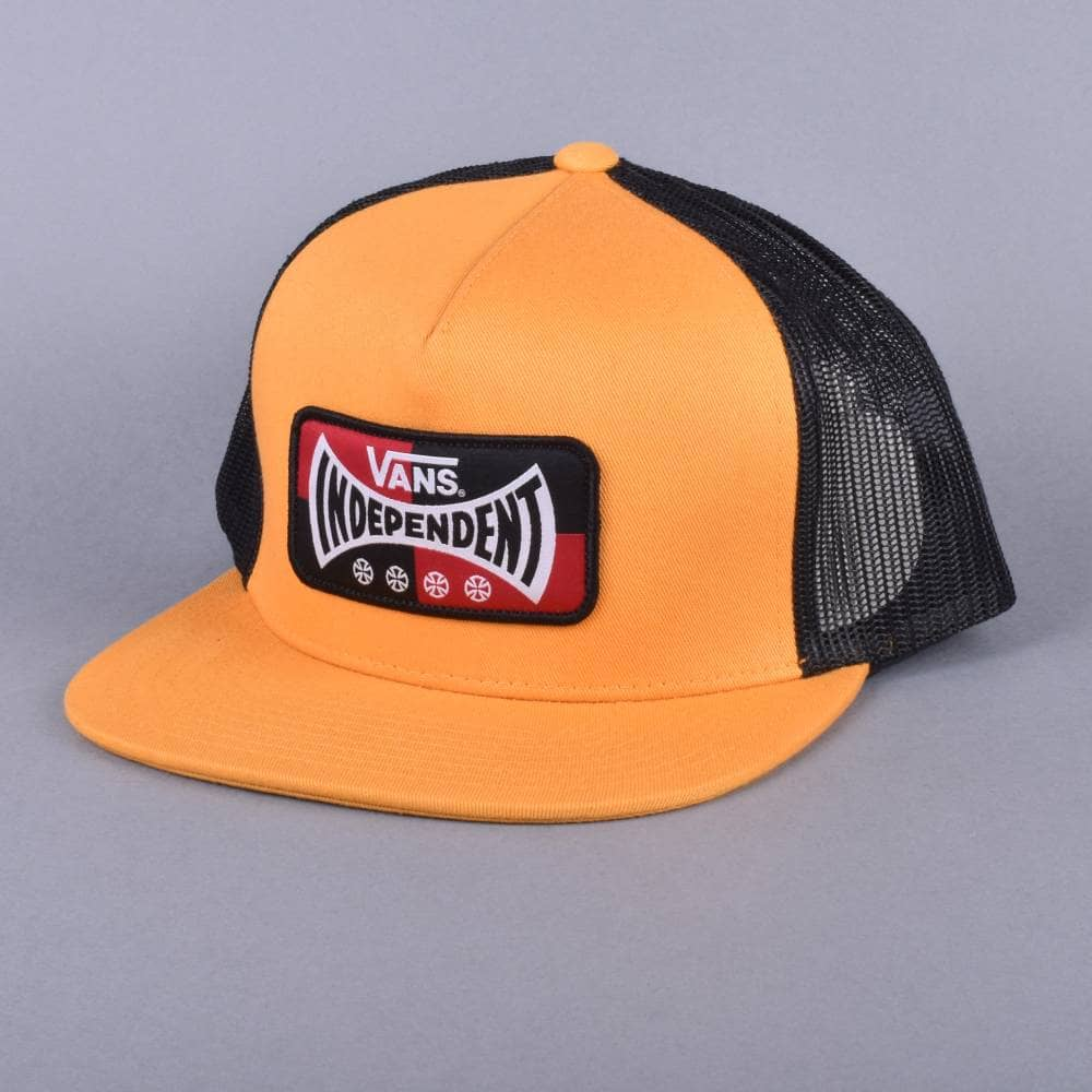 4bb5a6d7346 Vans Independent Mesh Trucker Cap - Sunflower - SKATE CLOTHING from ...