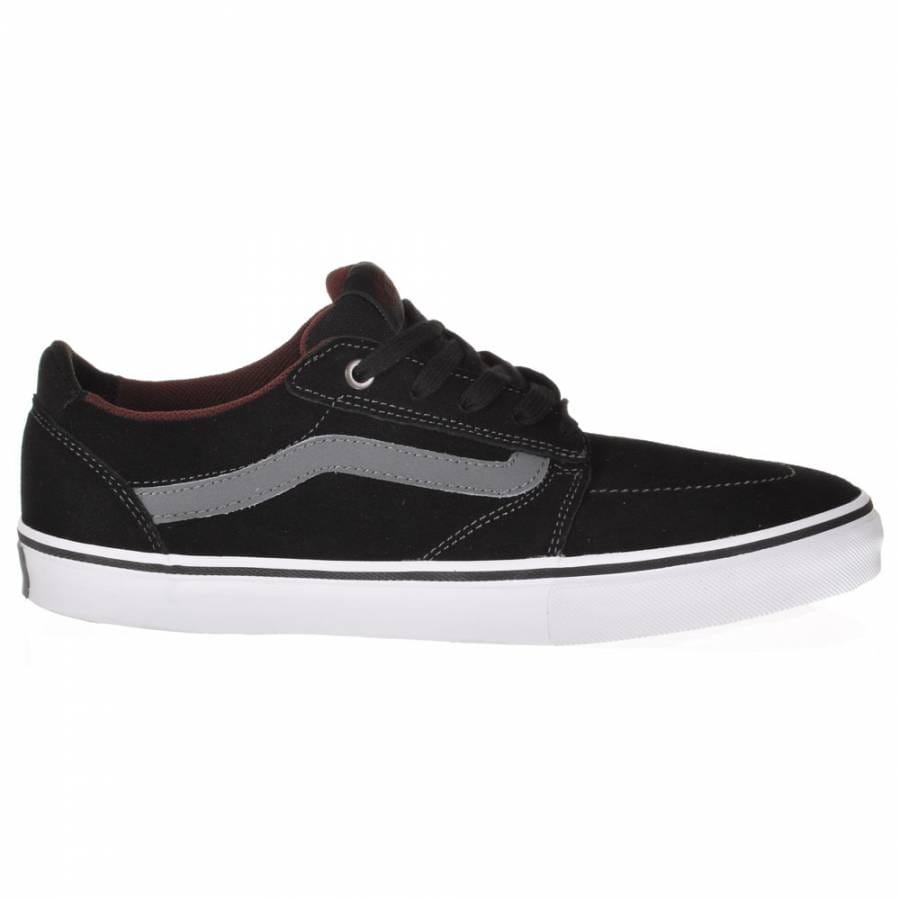 vans vans lindero black charcoal mahogany skate shoes