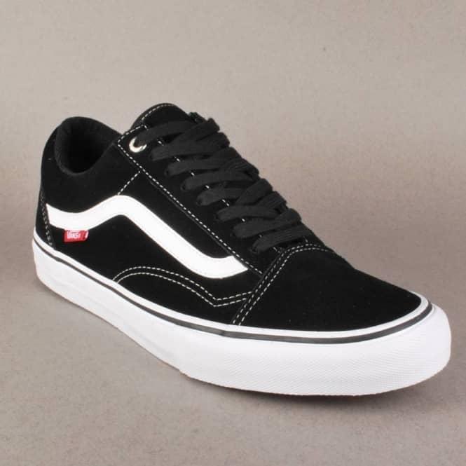 e61830d60f2 Vans Old Skool 92 Pro Skate Shoes - Black White Red - Mens Skate ...
