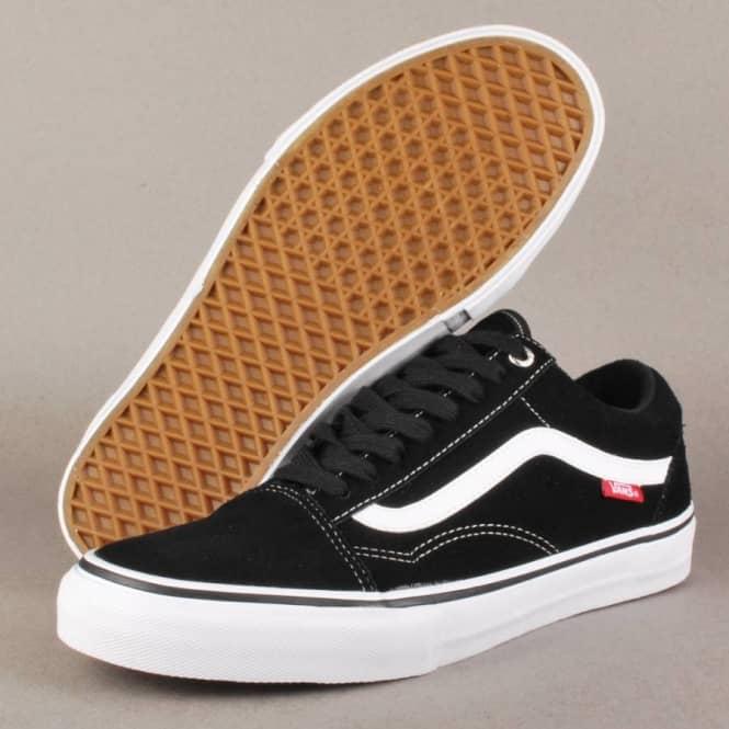 Vans Old Skool 92 Pro Skate Shoes - Black White Red - Mens Skate ... 8bbad7c05