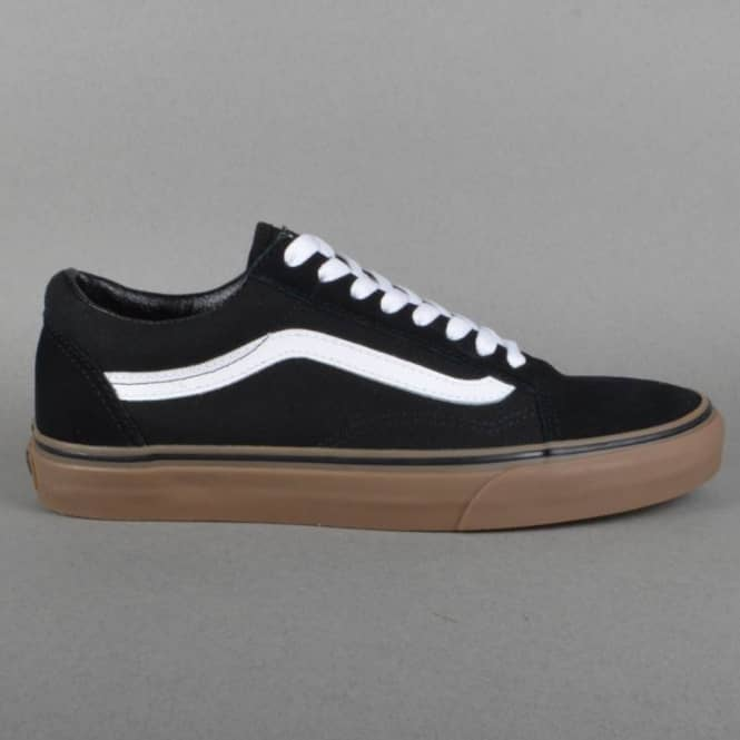 6b0fbaff70 Vans Old Skool Kids Skate Shoes - Black Gum - SKATE SHOES from ...