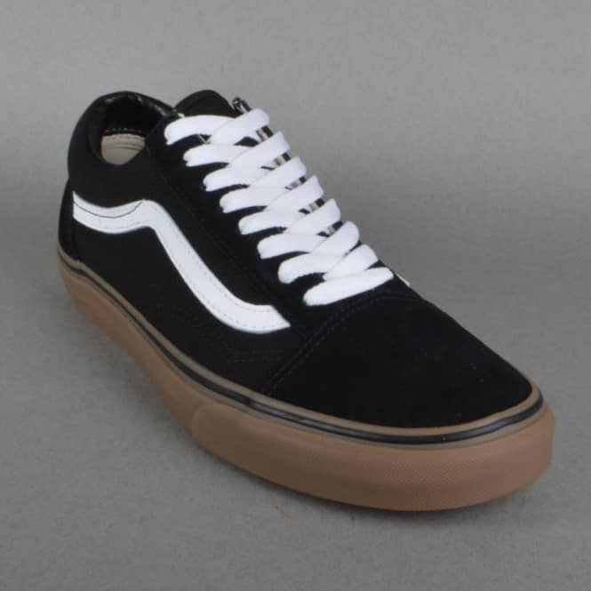 vans old skool black gum uk