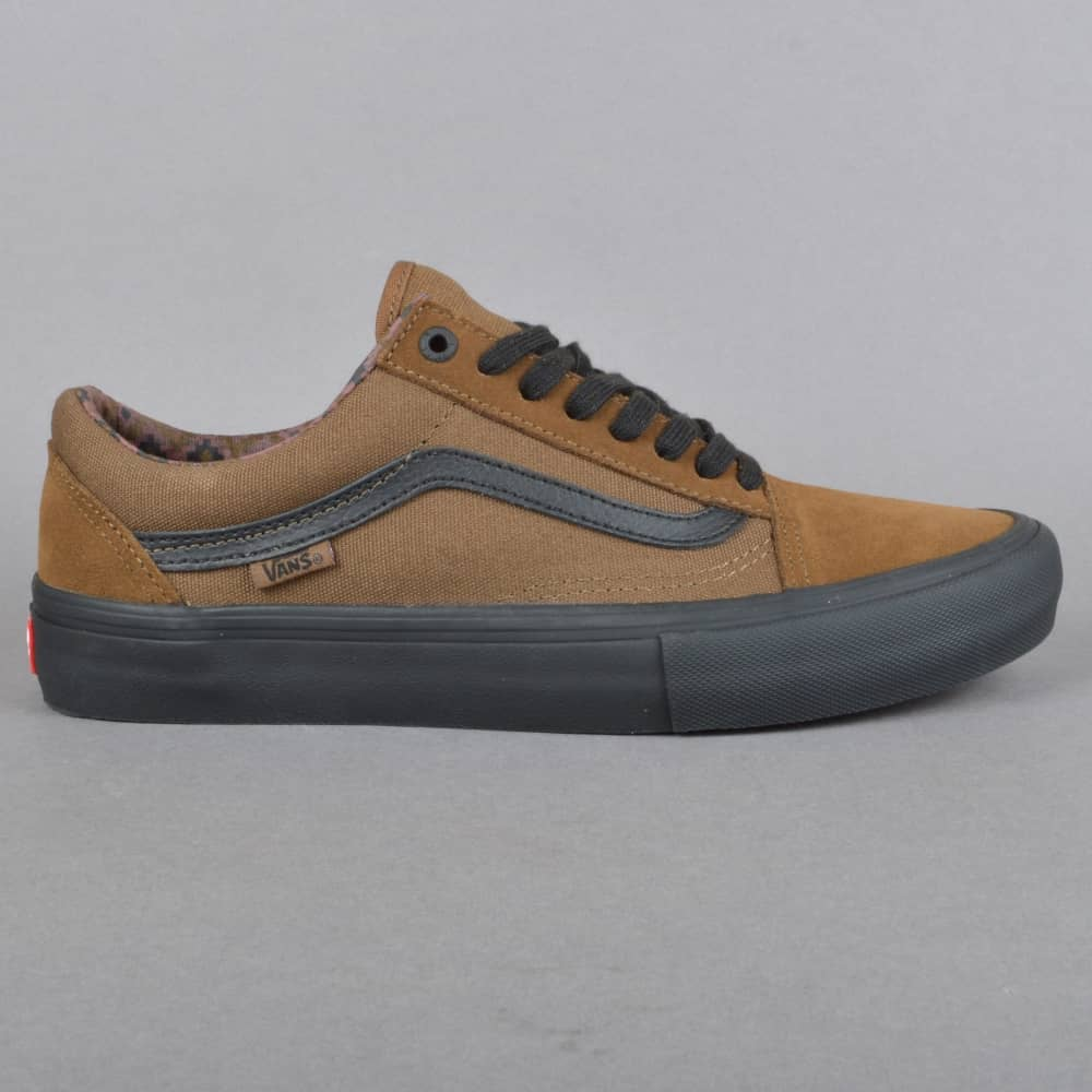 2ddf53b5c31f5f Vans Old Skool Pro (Dakota Roche) Skate Shoes - Teak Black - SKATE ...