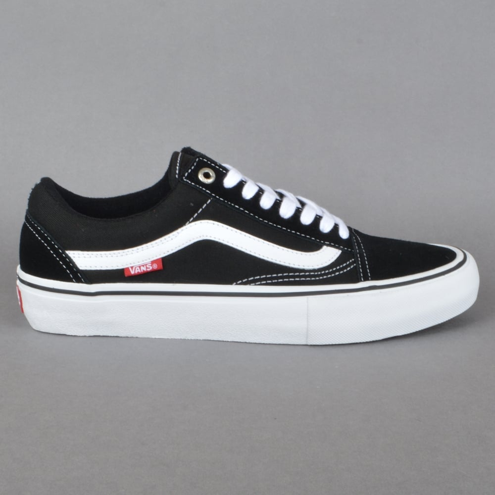 Vans Old Skool Pro Skate Shoes - Black White - SKATE SHOES from ... 693508301