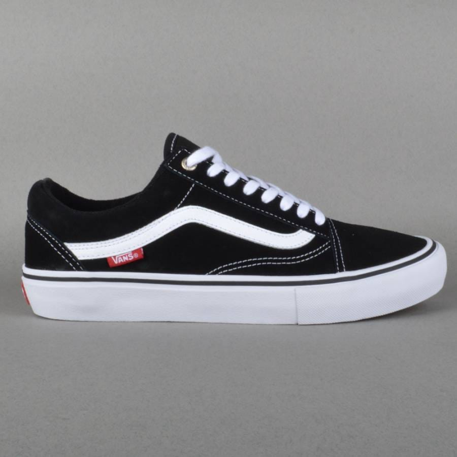 vans old skool pro skate shoes black white red vans. Black Bedroom Furniture Sets. Home Design Ideas