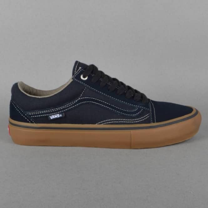 a181cbc12e0 Vans Old Skool Pro Skate Shoes - Blue Graphite Gum - SKATE SHOES ...