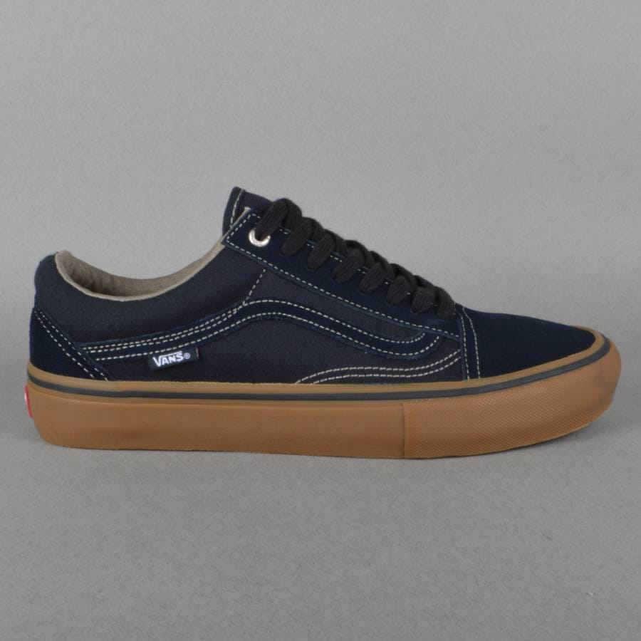 vans old skool pro skate shoes blue graphite gum vans. Black Bedroom Furniture Sets. Home Design Ideas