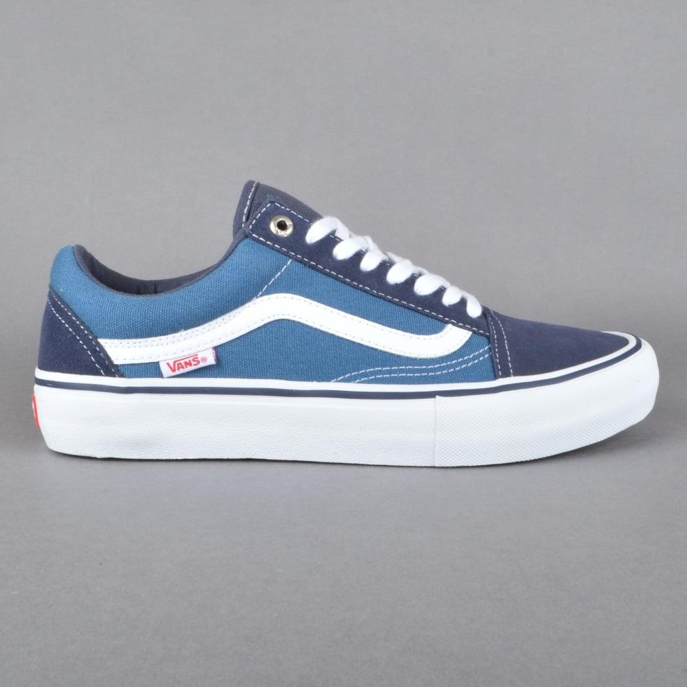vans old skool pro skate shoes navy stv navy white skate shoes from native skate store uk. Black Bedroom Furniture Sets. Home Design Ideas