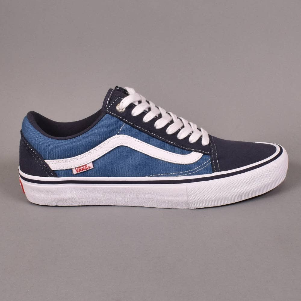 8fc9343ef979 Vans Old Skool Pro Skate Shoes - Navy STV Navy White - SKATE SHOES ...