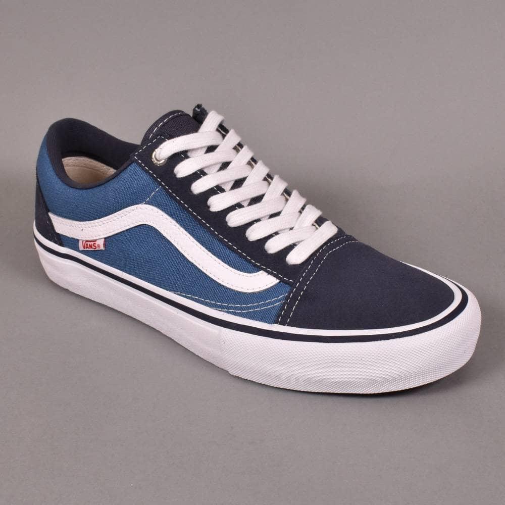 d58d34df82 Old Skool Pro Skate Shoes - Navy/STV Navy/White