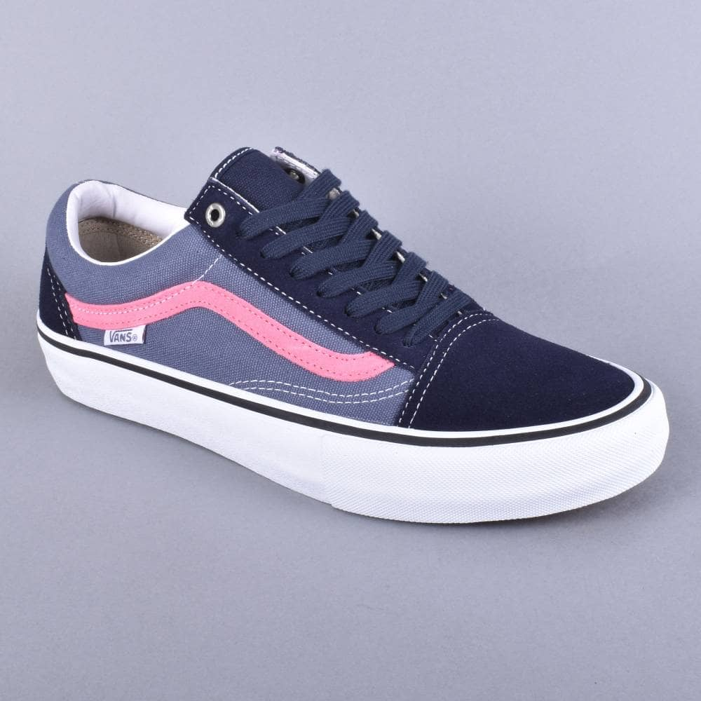 9ee7e021ff80fe Vans Old Skool Pro Skate Shoes - Sky Captain Pink - SKATE SHOES from ...