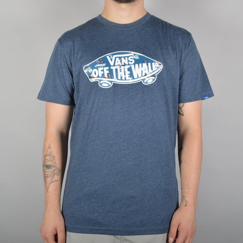 45d8c824 OTW Logo Fill Skate T-Shirt - Navy Heather/Full Sails
