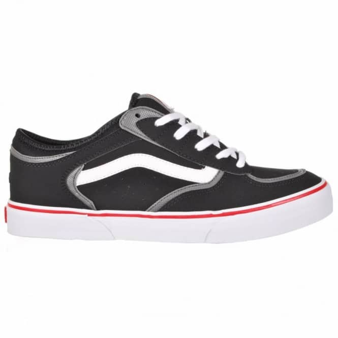 dd7a682191dc6c Vans Rowley Pro Skate Shoes - Black White Red - Mens Skate Shoes ...