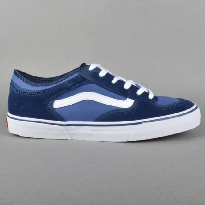 Vans Rowley Pro Skate Shoes - Navy/White