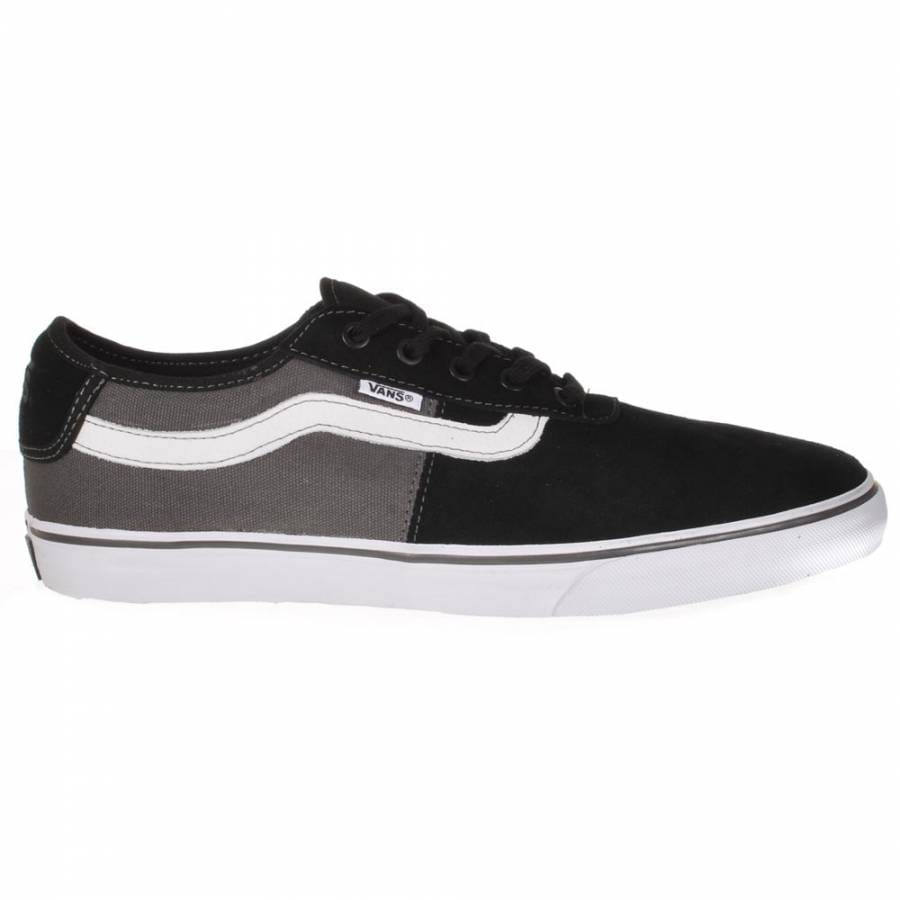 vans vans rowley spv black charcoal white skate shoes