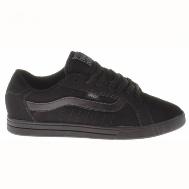 7cb163d917c3a9 Vans Rowley Stripes Synthetic Black Black - Mens Skate Shoes from ...