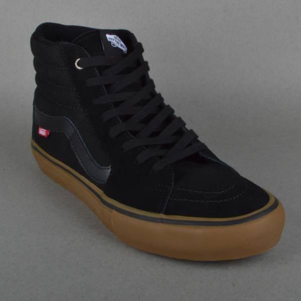 vans sk8 hi pro black and gum