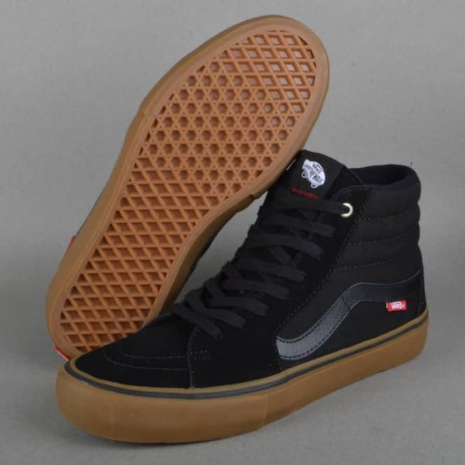 351e8efd273 Vans Sk8-Hi Pro Skate Shoes - Black Gum - SKATE SHOES from Native ...
