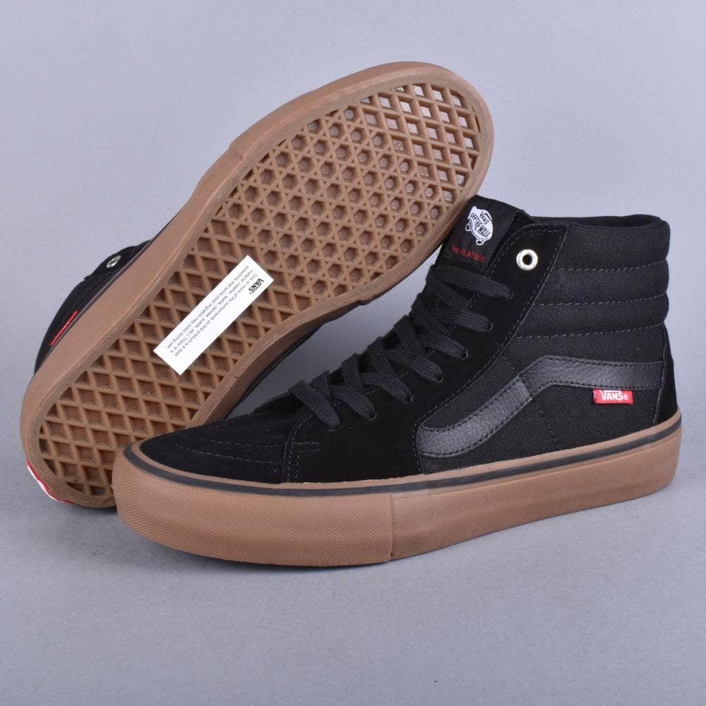Vans Sk8-Hi Pro Skate Shoes - Black Gum - SKATE SHOES from Native ... 621e36383