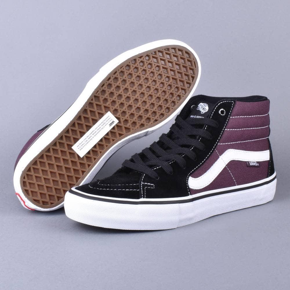 Skate Shoes Vans SK8 Hi Pro Skate Shoes Black Raisin