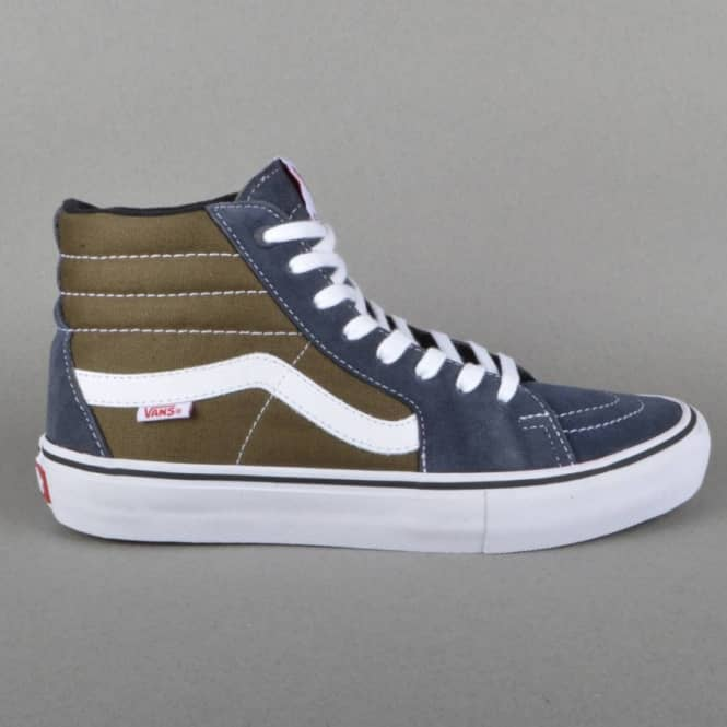 3a6af73606c Vans Sk8-Hi Pro Skate Shoes - Ebony Olive - SKATE SHOES from Native ...