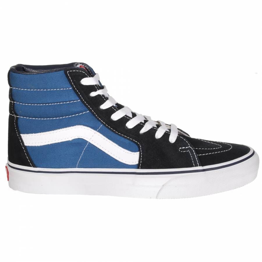 vans vans sk8 hi skate shoes navy vans from native skate store uk. Black Bedroom Furniture Sets. Home Design Ideas