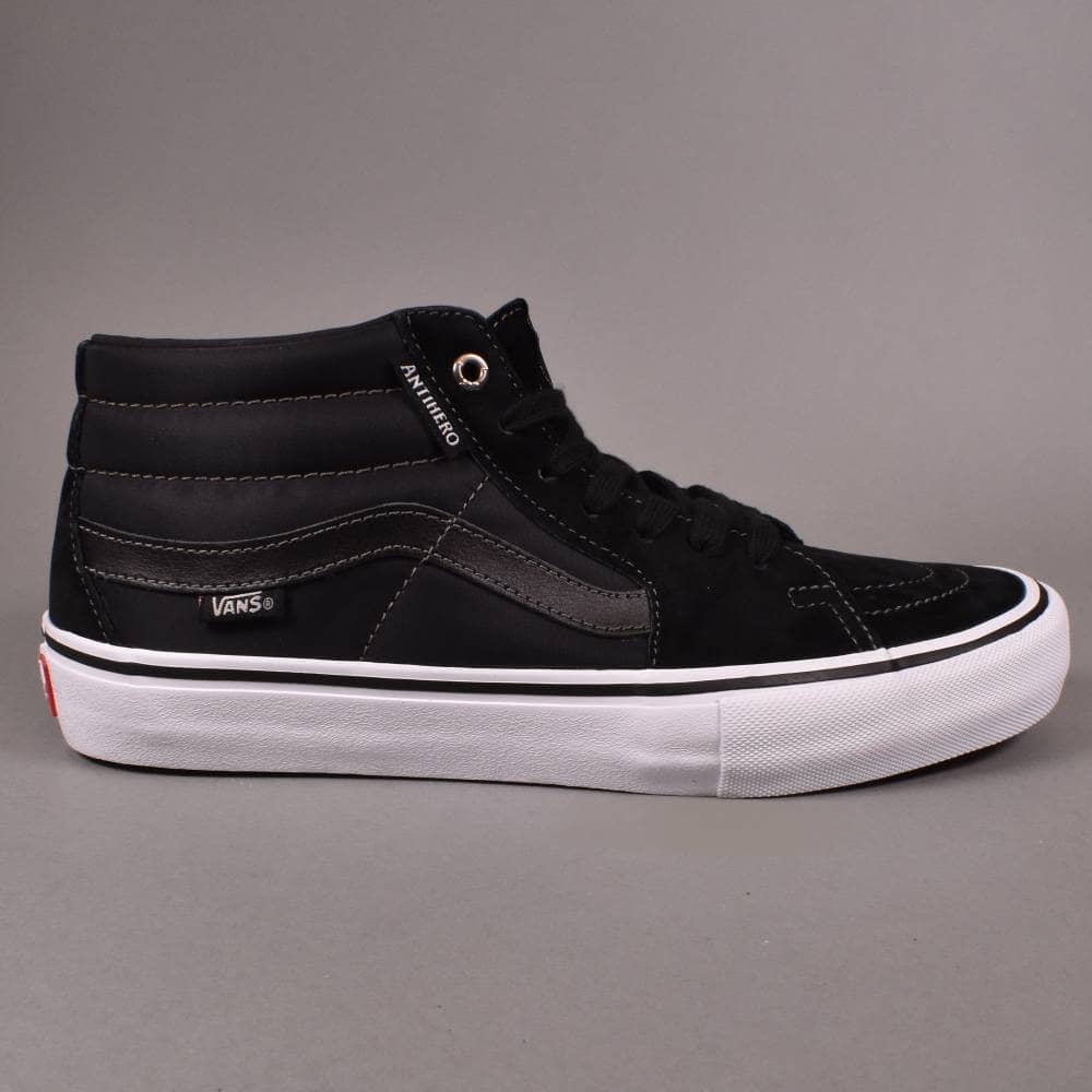 3a9030e7978b Vans Sk8-Mid Pro Skate Shoes - (Anti Hero) Grosso Black - SKATE ...