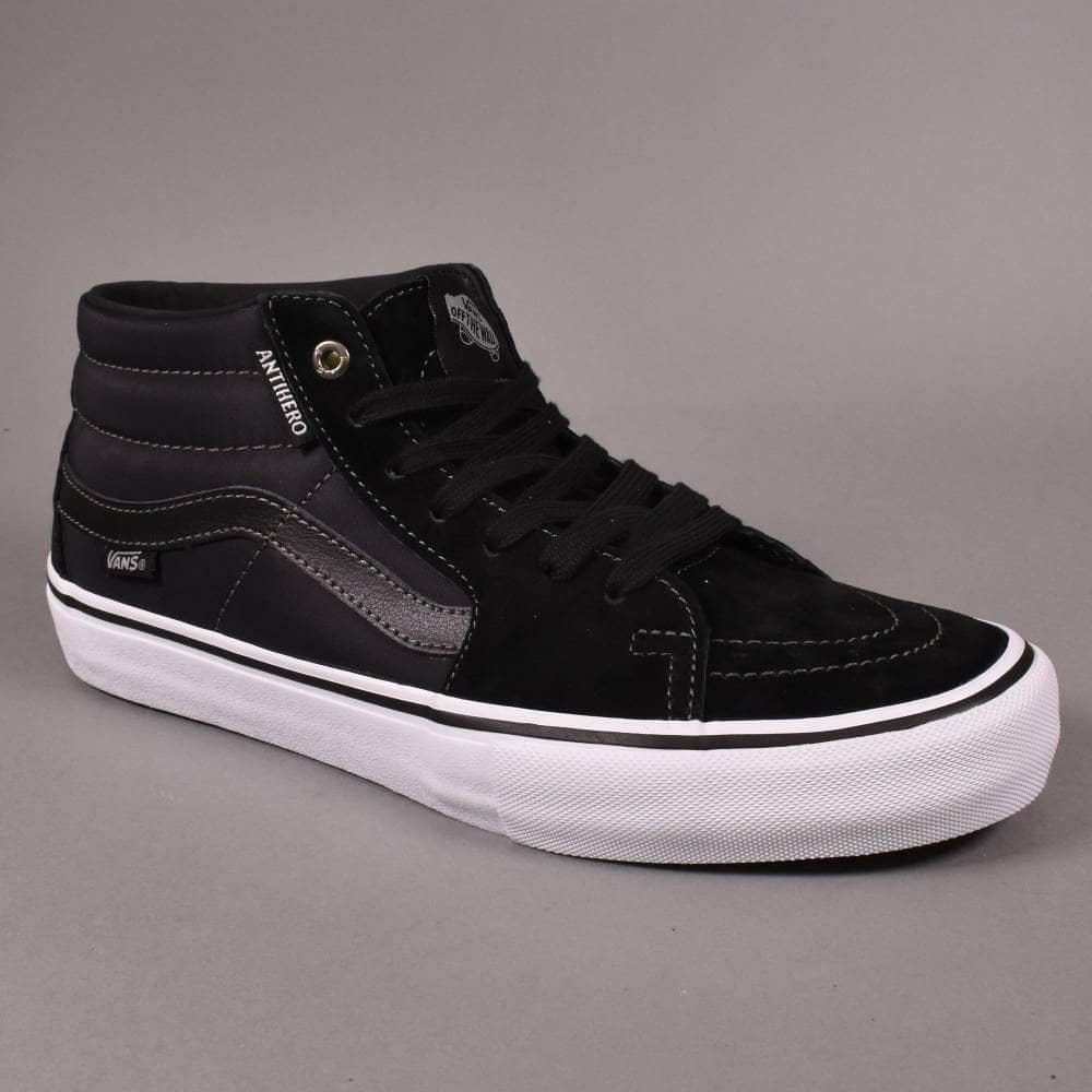 dd88f364b6 Vans Sk8-Mid Pro Skate Shoes - (Anti Hero) Grosso Black - SKATE ...