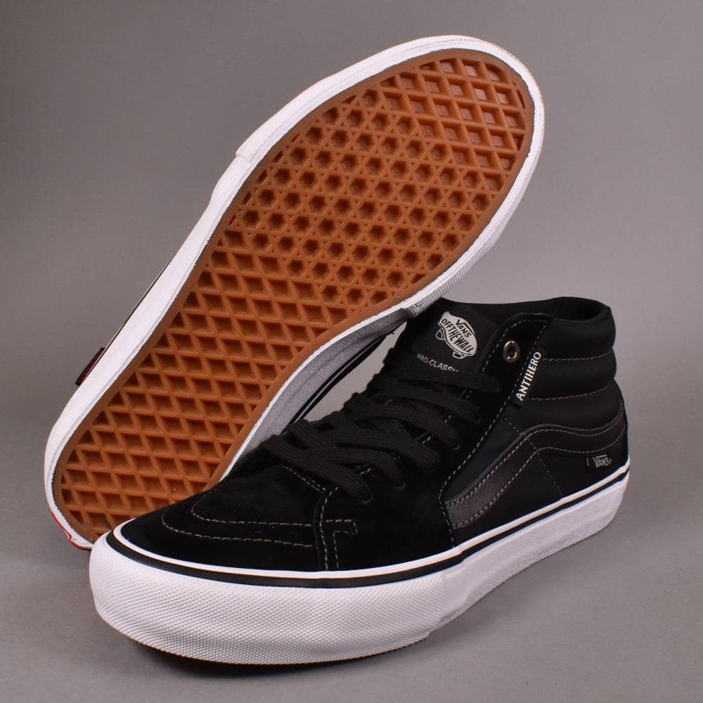 dee5b658cb Vans Sk8-Mid Pro Skate Shoes - (Anti Hero) Grosso Black - SKATE ...