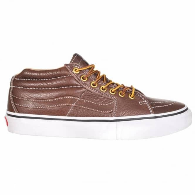 d4243b1f4e267e Vans Sk8-Mid Pro Skate Shoes - (John Cardiel) Chestnut White - Mens ...