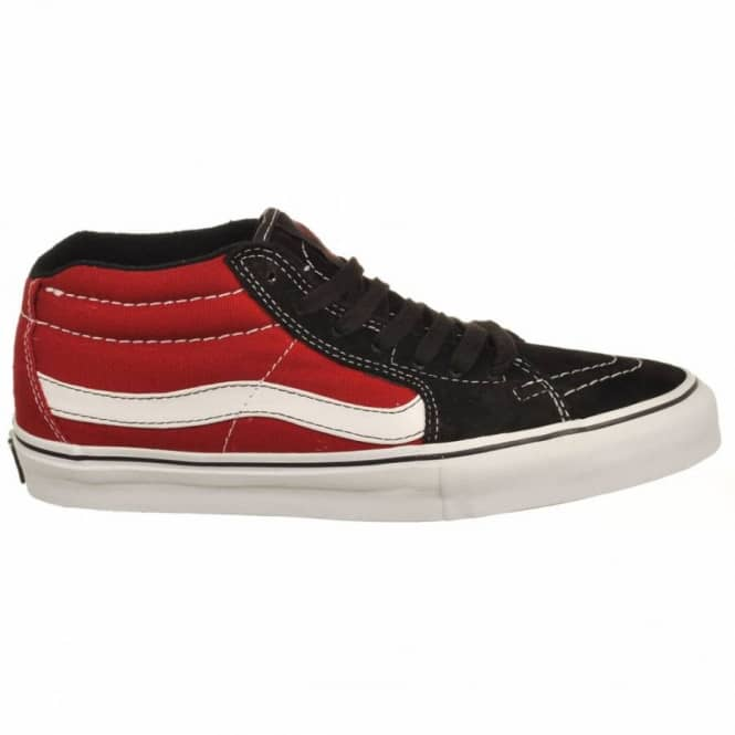 5890361de1 Vans Sk8-Mid Vert Pro Grosso Red Skate Shoes - Mens Skate Shoes from ...