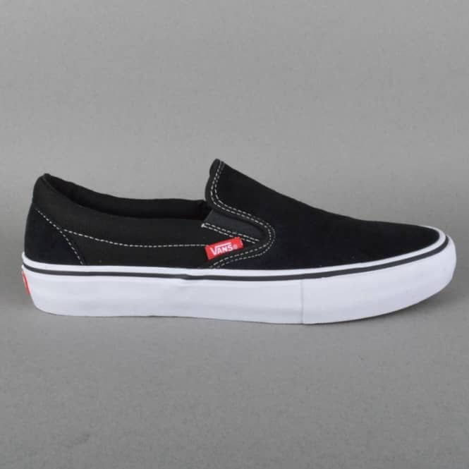 Vans Slip On Pro Skate Shoes - Black/White/Gum