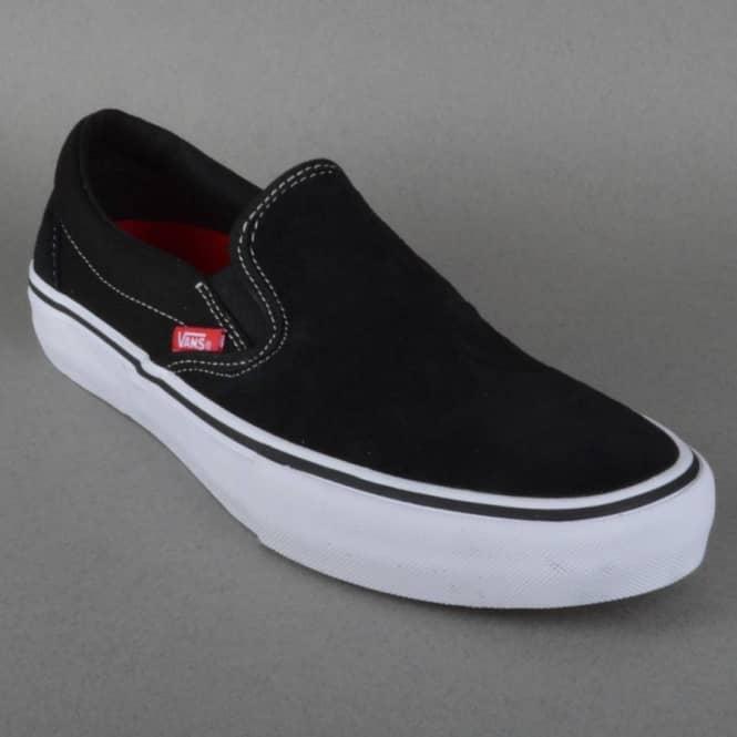 Vans Slip On Pro Skate Shoes - Black