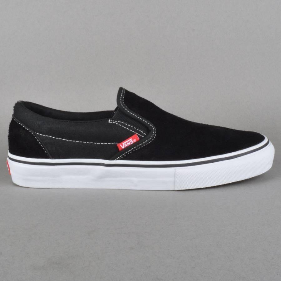 vans slip on pro skate shoes black white red vans from. Black Bedroom Furniture Sets. Home Design Ideas