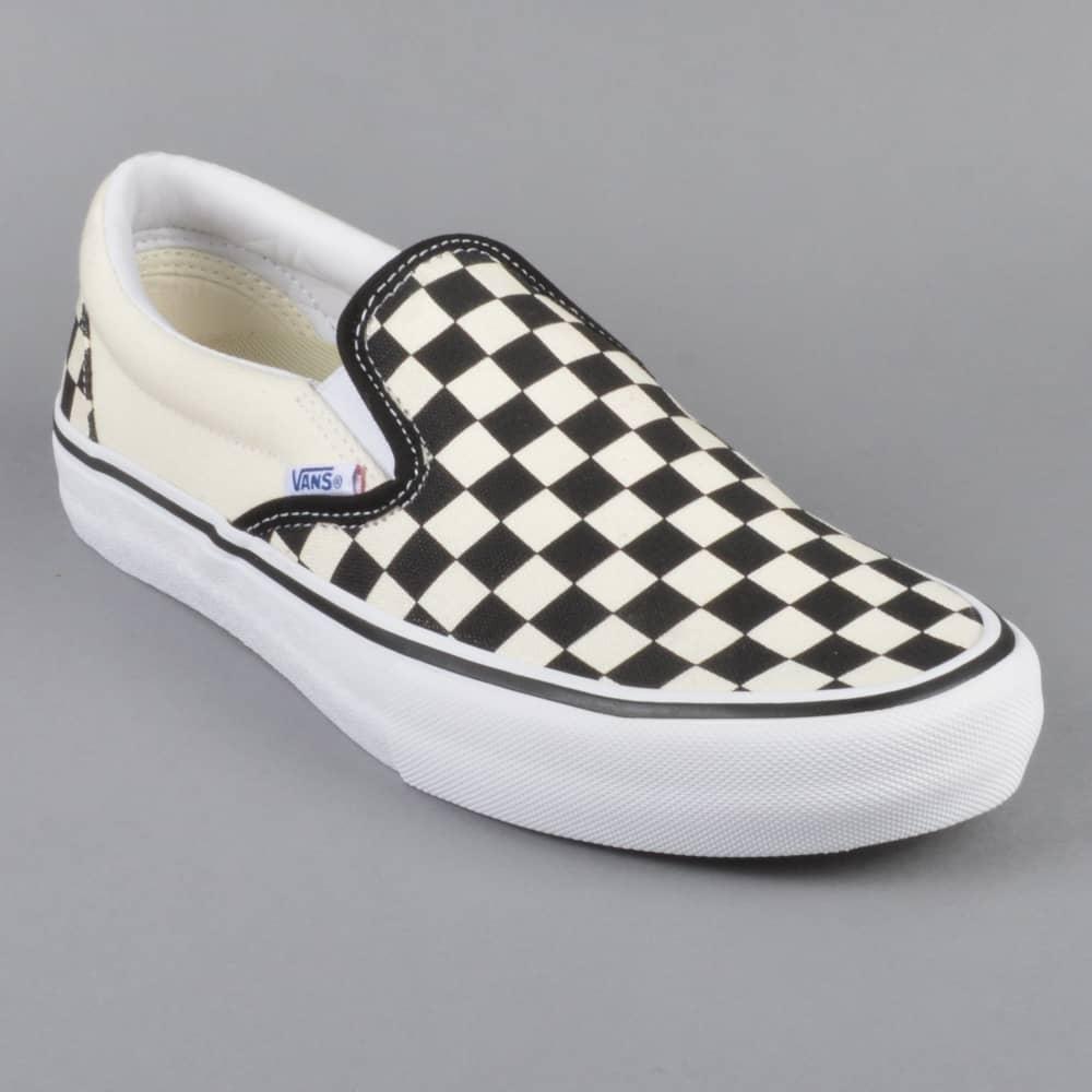 vans checkerboard slip-on pro