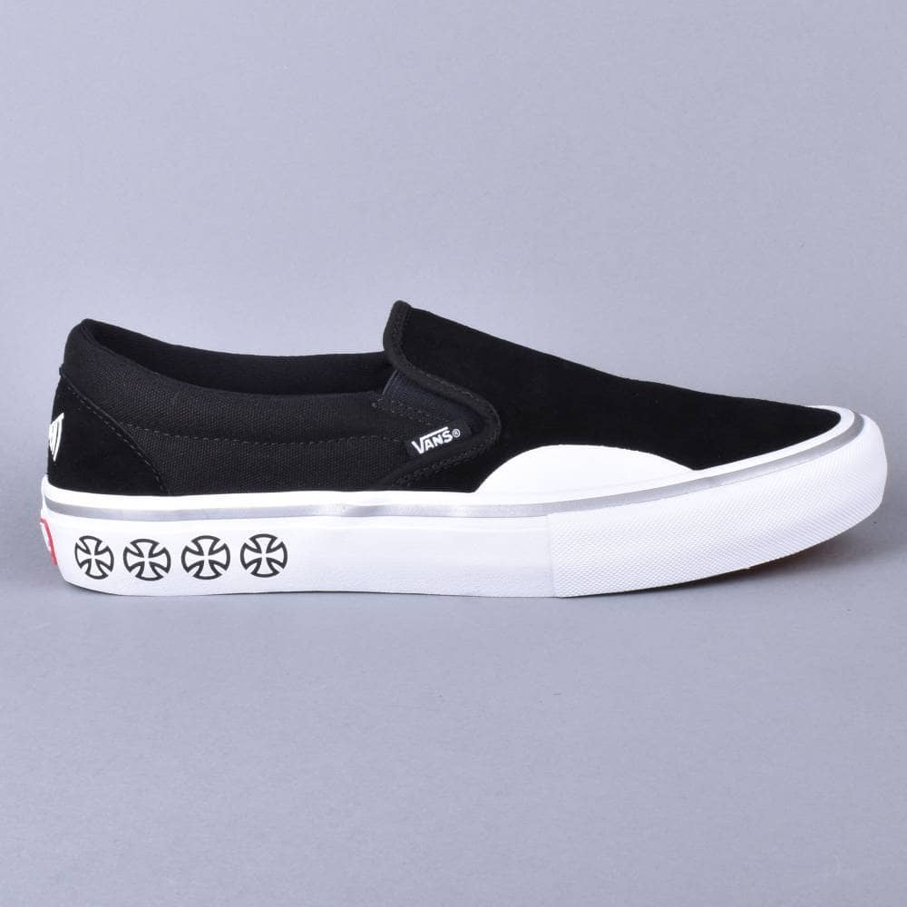 d246a1e52e0 Vans Slip-On Pro Skate Shoes - (Independent) Black White - SKATE ...