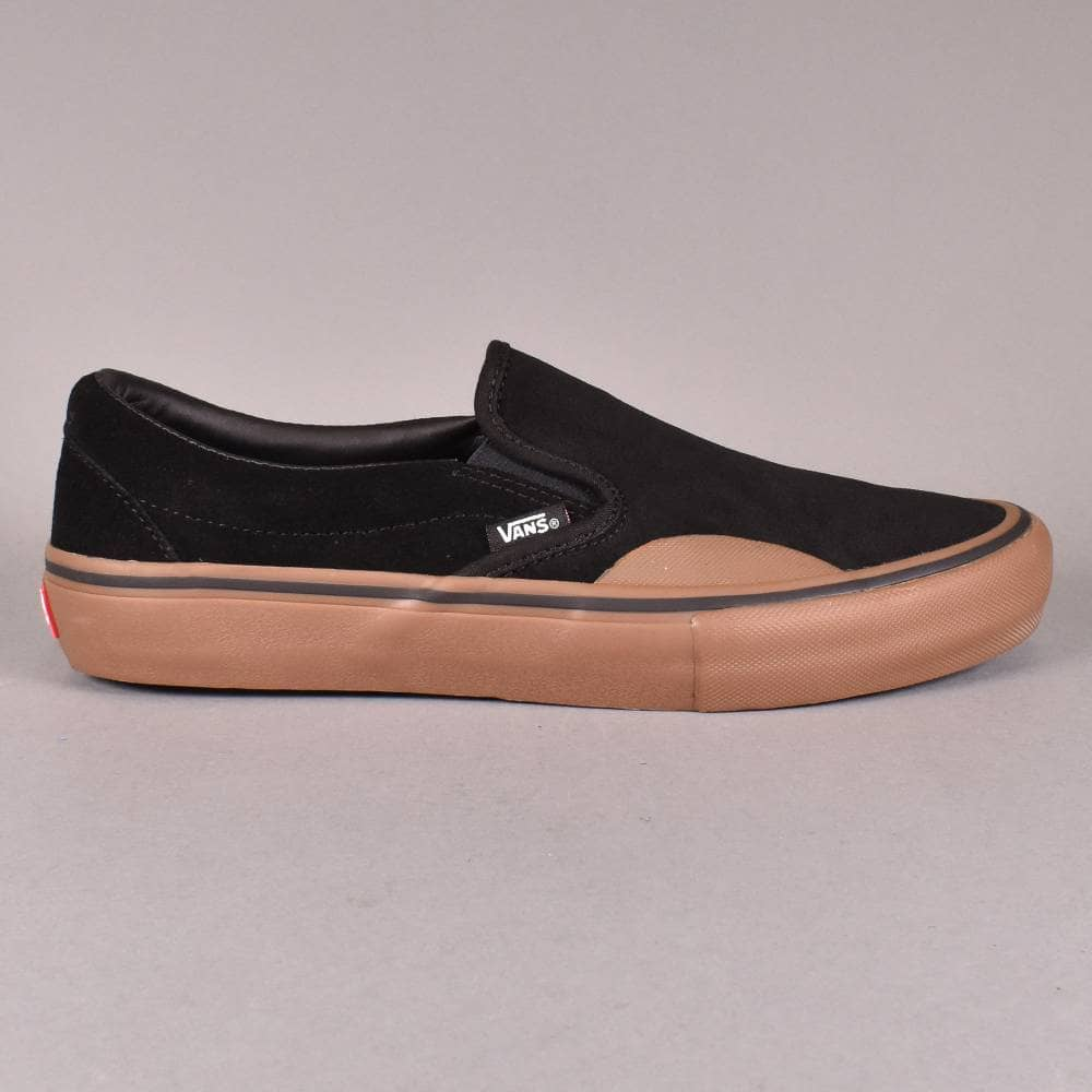 c8ccf4706b0 Vans Slip-On Pro Skate Shoes - (Rubber) Black Gum - SKATE SHOES from ...