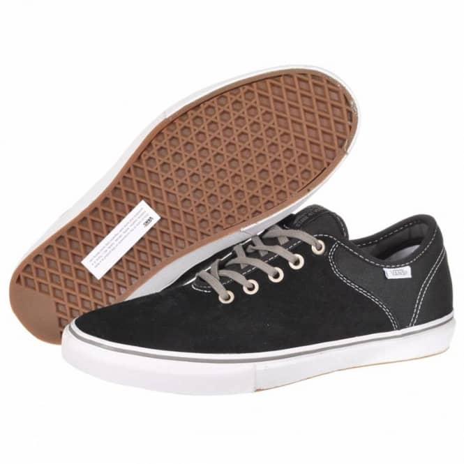 7e000863d2 Vans Stage 4 Low Skate Shoes - Chris Pfanner Black White Charcoal ...