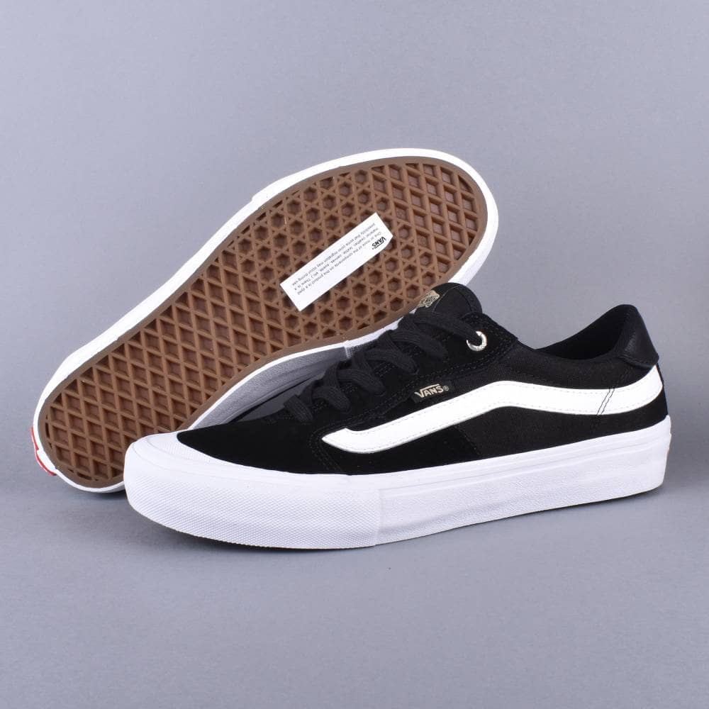 a3eeebe7bc13ee Vans Style 112 Pro Skate Shoes - Black White Khaki - SKATE SHOES ...