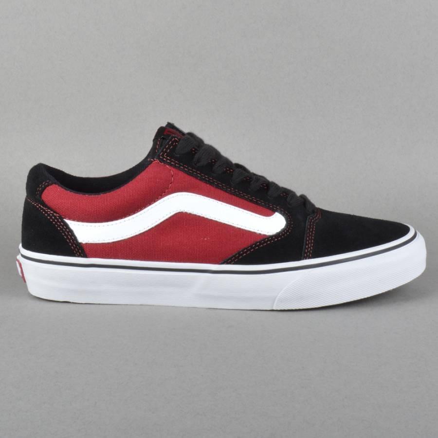 Vans TNT 5 Skate Shoes - Black/Dark Red