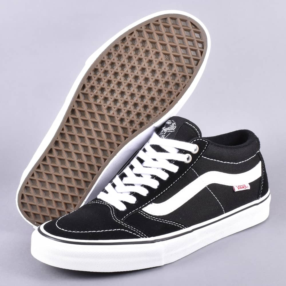5469eb124be2 Vans TNT SG Skate Shoes - Black White - SKATE SHOES from Native ...