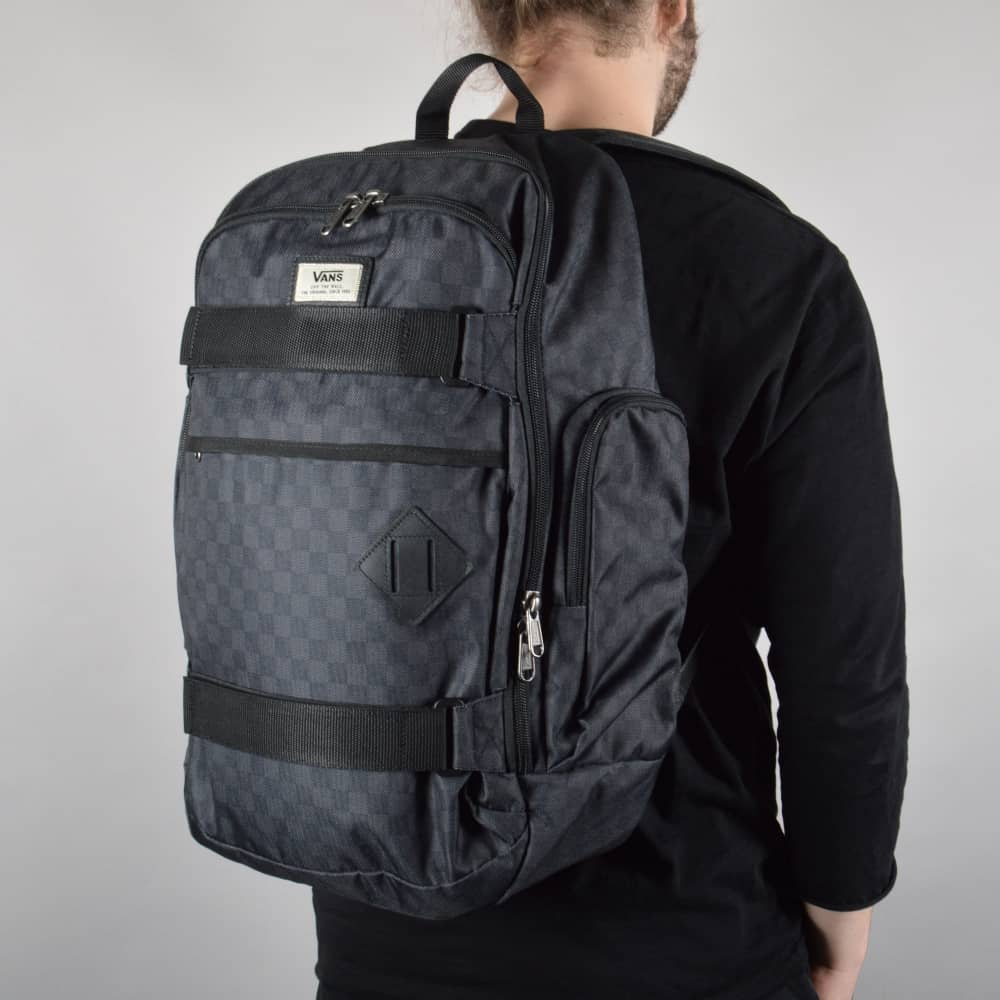 0168896962940 Vans Transient III Skate Backpack - Black Charcoal (Checkered ...