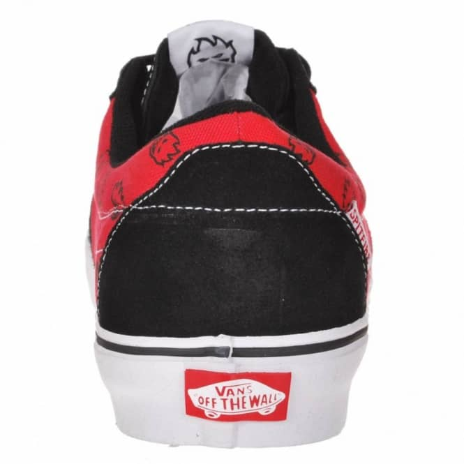 Vans AV Native American Low Skate Shoes - Spitfire Black Flame Red ... 8c10352cb