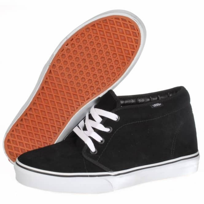 21b3e3e0a43216 Vans Chukka Boot Skate Shoe - Black White - SKATE SHOES from Native ...