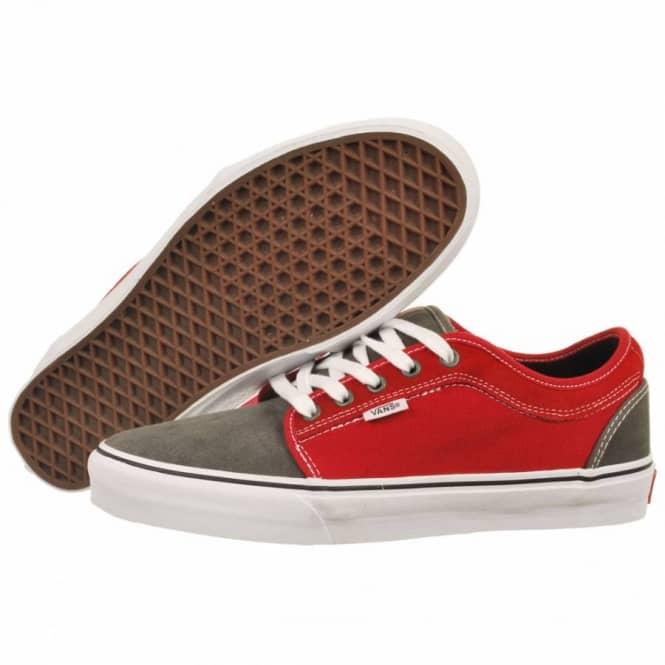 9cb57a5015 Vans Chukka Low Massimo Cavedoni Grey Red Skate Shoes - Mens Skate ...