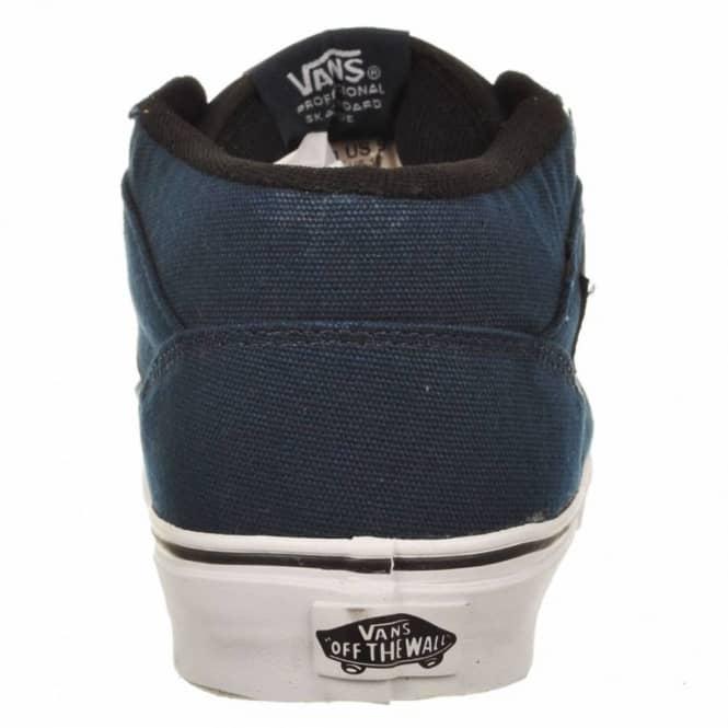 a0b66069c9 Vans Half Cab 14oz Canvas Dress Blue Skate Shoes - Mens Skate Shoes ...