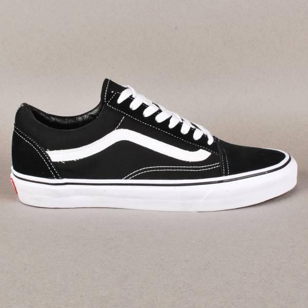 Vans Old Skool Skate Shoes - Black/White - Mens Skate ...