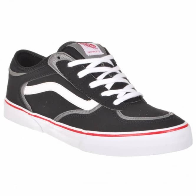Vans Rowley Pro Kids Skate Shoes - Black/White/Red - Kid's Skate ...