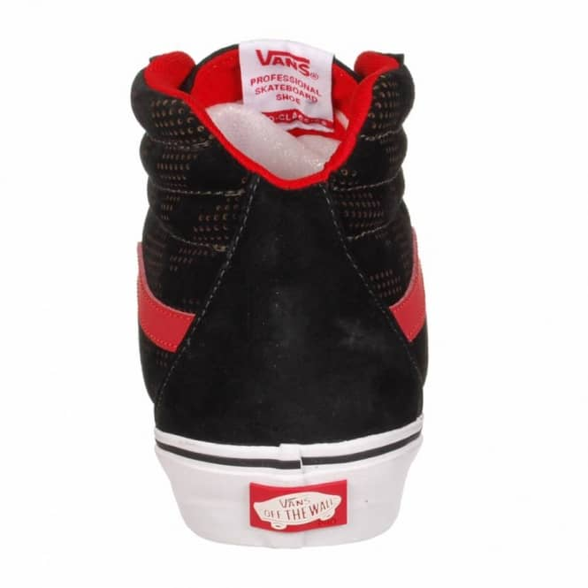 7e0c797abd29c3 Vans Sk8 Hi Notchback Skate Shoes - Hosoi Black White Red - Mens ...