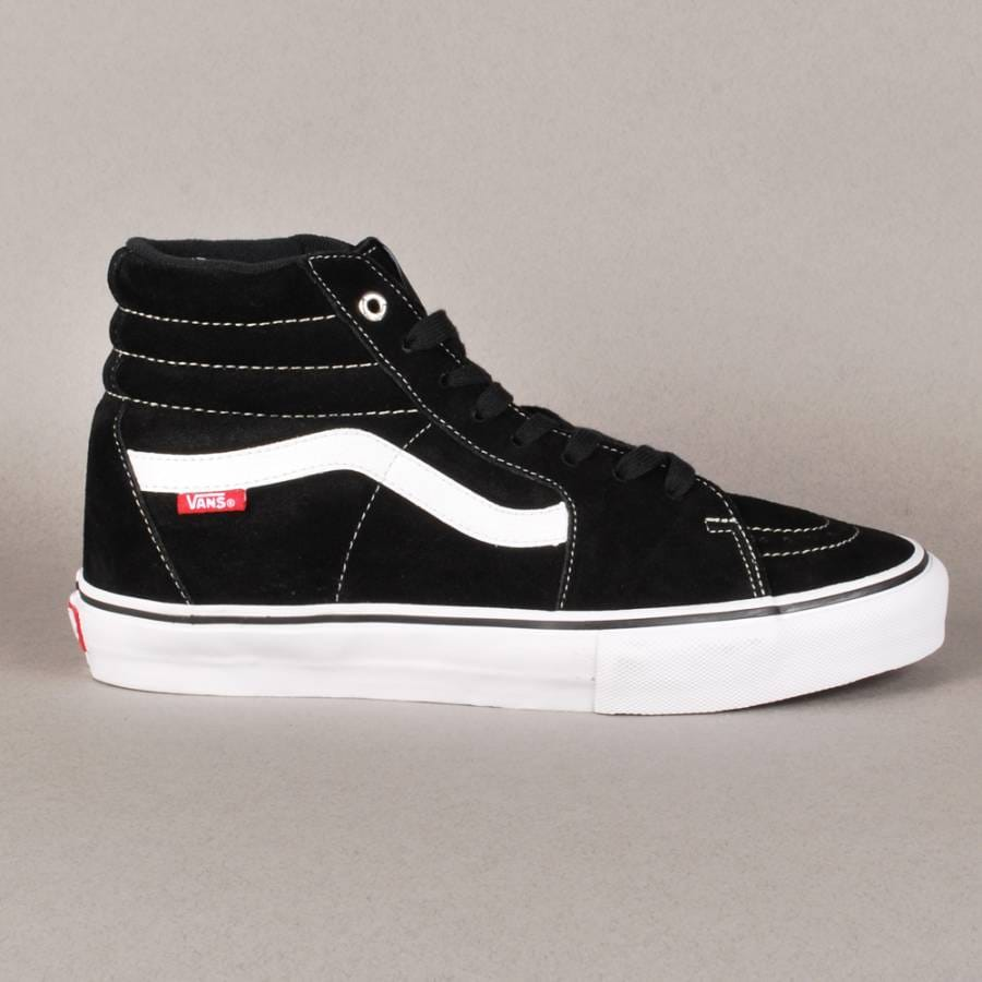 vans vans sk8 hi pro skate shoes black white red vans from native skate store uk. Black Bedroom Furniture Sets. Home Design Ideas